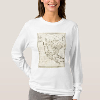 North America outline map T-Shirt