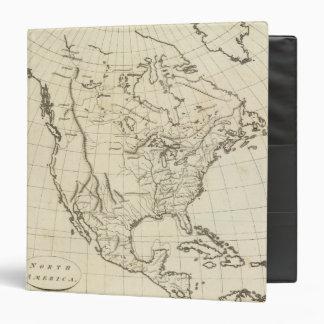 North America outline map Vinyl Binder