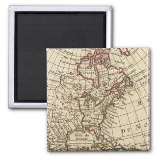 North America School Fridge Magnet