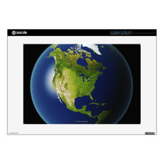 """North America Seen from Space 2 15"""" Laptop Skins"""