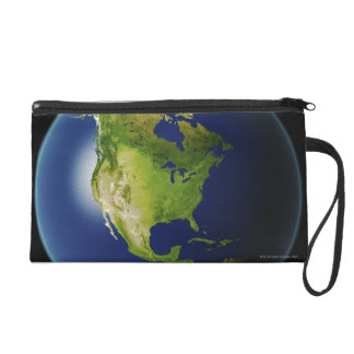 North America Seen from Space 2 Wristlet