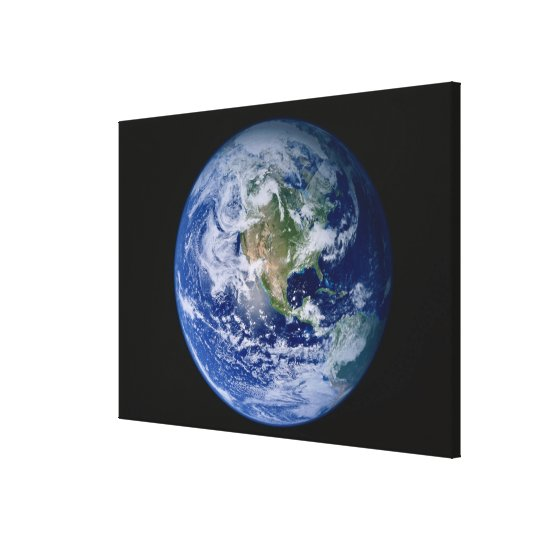 North America Seen from Space 2 Canvas Print