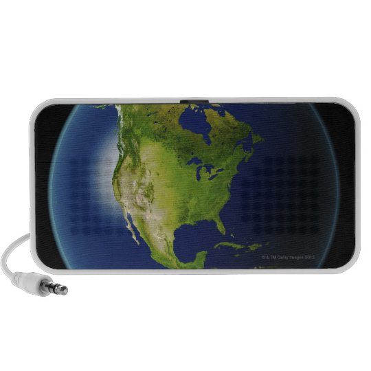 North America Seen from Space 2 Portable Speaker