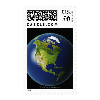 North America Seen from Space 2 Postage
