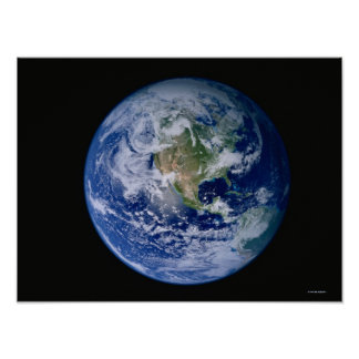 North America Seen from Space 2 Poster