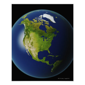 North America Seen from Space 2 Posters
