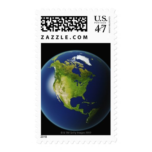 North America Seen from Space 2 Stamp