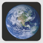 North America Seen from Space Square Sticker