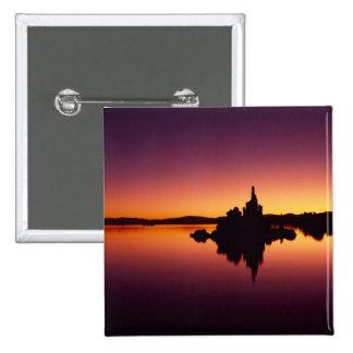 North America, U.S.A., California, Mono Lake, 2 Inch Square Button