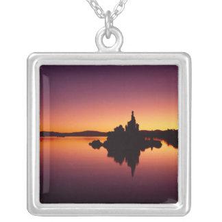 North America, U.S.A., California, Mono Lake, Square Pendant Necklace