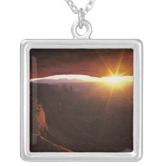 North America, U.S.A., Utah, Canyonlands Square Pendant Necklace