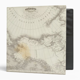 North America uncolored map Binder
