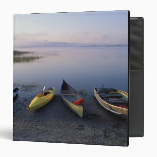 North America, US, ME, Boats on the shore of 3 Ring Binder