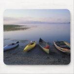 North America, US, ME, Boats on the shore of Mouse Pad