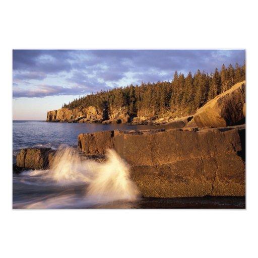 North America, US, ME, The rocky Maine coast. Photograph