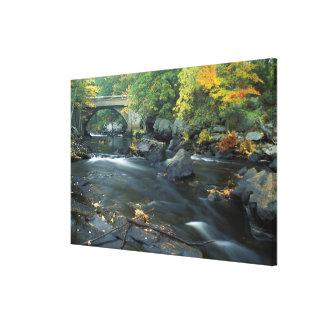 North America, US, NH, The bridge at Packers Canvas Print