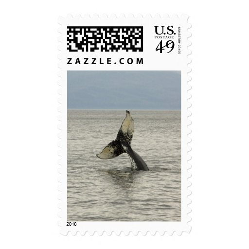 North America, USA, AK, Inside Passage. Humpback Postage Stamps