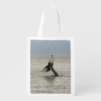 North America, USA, AK, Inside Passage. Humpback Reusable Grocery Bags