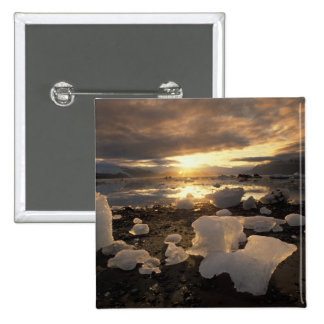 North America USA Alaska Ice Bay Icescape Pinback Buttons