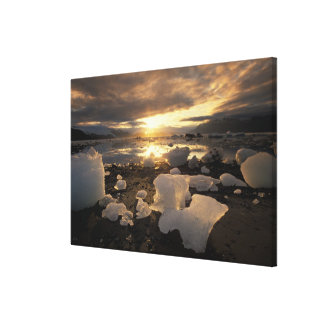 North America, USA, Alaska, Ice Bay, Icescape, Canvas Print