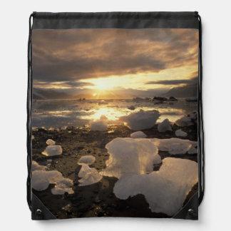 North America USA Alaska Ice Bay Icescape Drawstring Bag