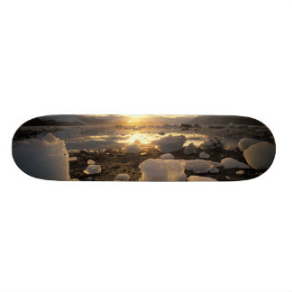 North America, USA, Alaska, Ice Bay, Icescape, Skateboard Deck