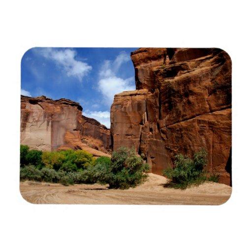 North America, USA, Arizona, Navajo Indian 5 Rectangle Magnets