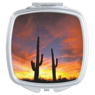 North America, USA, Arizona, Sonoran Desert. Makeup Mirror