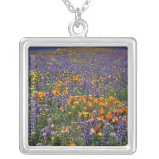 North America, USA, California, Los Angeles 2 Silver Plated Necklace