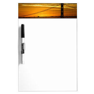 North America, USA, California, San Francisco. 3 Dry-Erase Board