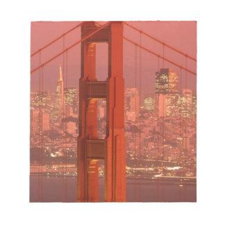 North America, USA, California, San Francisco. Notepad
