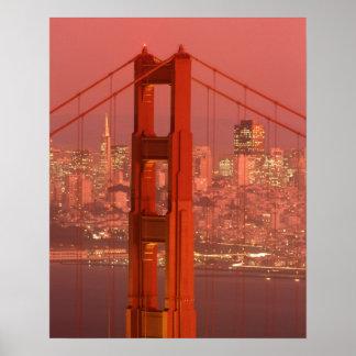 North America, USA, California, San Francisco. Poster