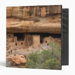 North America, USA, Colorado. Cliff dwellings 3 Ring Binder