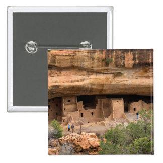 North America, USA, Colorado. Cliff dwellings Button