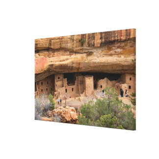 North America, USA, Colorado. Cliff dwellings Gallery Wrapped Canvas