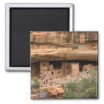 North America, USA, Colorado. Cliff dwellings 2 Inch Square Magnet