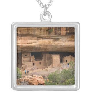 North America, USA, Colorado. Cliff dwellings Square Pendant Necklace