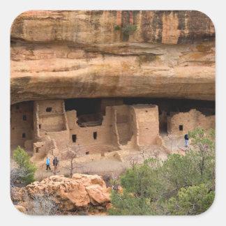 North America, USA, Colorado. Cliff dwellings Sticker