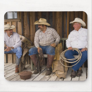 North America, USA. Cowboys relaxing and Mouse Pad