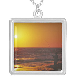 North America Usa Florida Sanibel Island Silver Plated Necklace