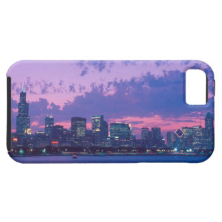 North America, USA, IL. Chicago skyline at dusk iPhone 5 Case