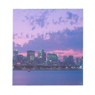 North America, USA, IL. Chicago skyline at dusk Notepad
