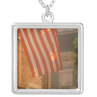 North America, USA, Massachusetts, Nantucket 2 Silver Plated Necklace