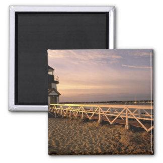 North America, USA, Massachusetts, Nantucket 3 2 Inch Square Magnet