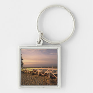 North America, USA, Massachusetts, Nantucket 3 Silver-Colored Square Keychain