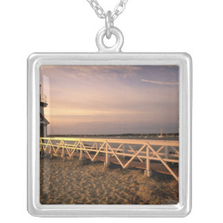 North America, USA, Massachusetts, Nantucket 3 Silver Plated Necklace