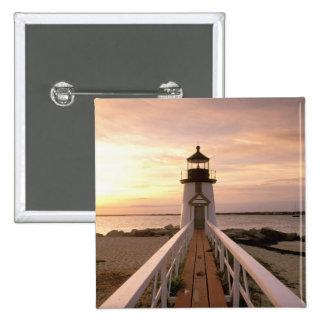 North America, USA, Massachusetts, Nantucket 4 2 Inch Square Button