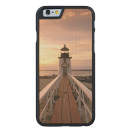 North America, USA, Massachusetts, Nantucket 4 Carved Maple iPhone 6 Case