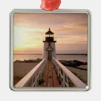 North America USA Massachusetts Nantucket 4 Christmas Tree Ornaments