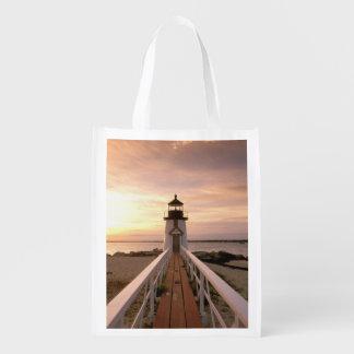 North America, USA, Massachusetts, Nantucket 4 Reusable Grocery Bag